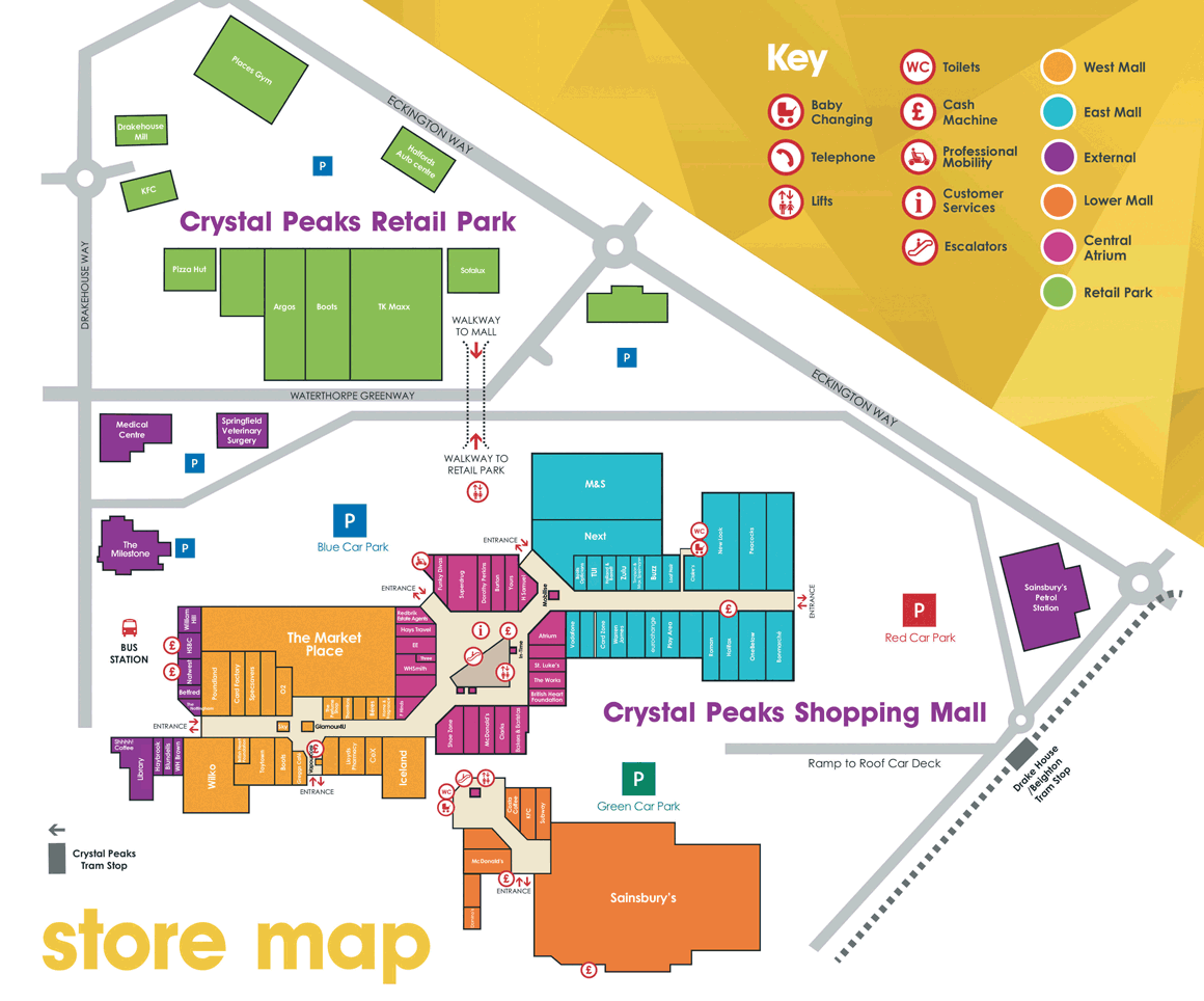 Crystal Peaks Centre Map